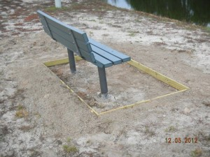 New Cement Pads at the Fishing Pond - December 2012
